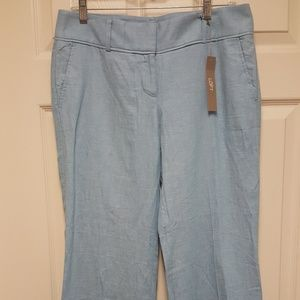 Ann Taylor Loft Light Blue Linen Pants